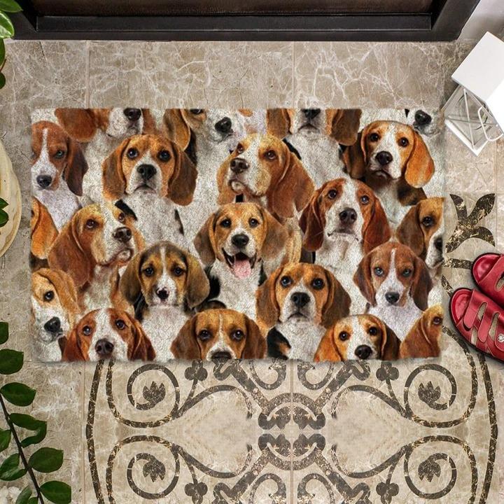 A Bunch Of Beagles Doormat 1