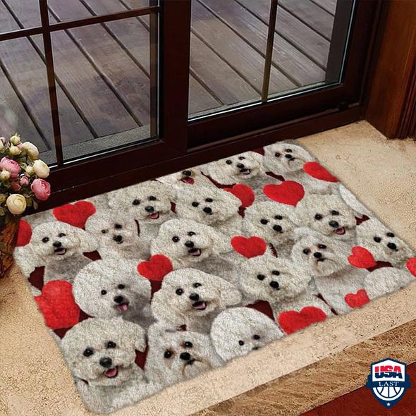 A Bunch Of Bichon Frises Doormat
