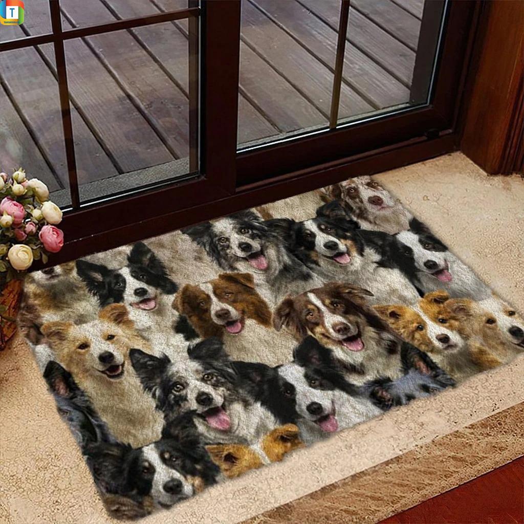 A Bunch Of Border Collies Doormat