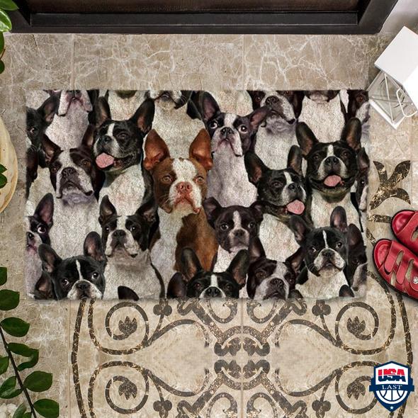 A Bunch Of Boston Terriers Doormat