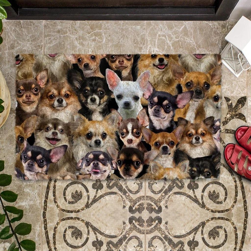 A Bunch Of Chihuahuas Doormat 1