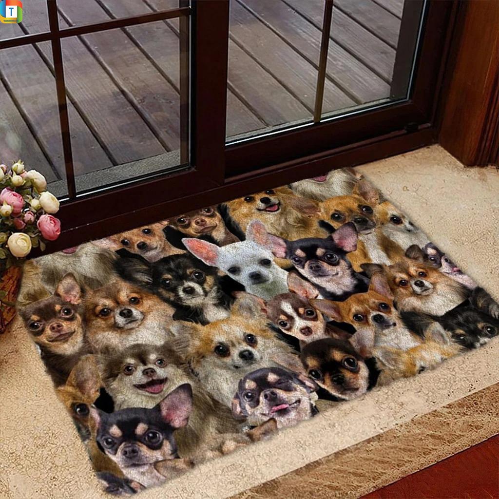 A Bunch Of Chihuahuas Doormat