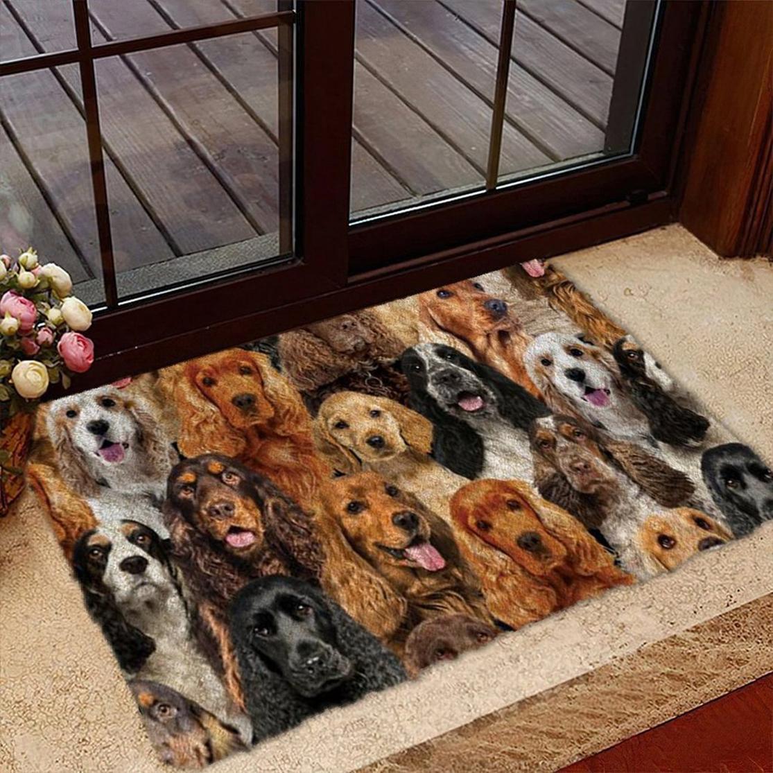 A Bunch Of Cocker Spaniels Doormat