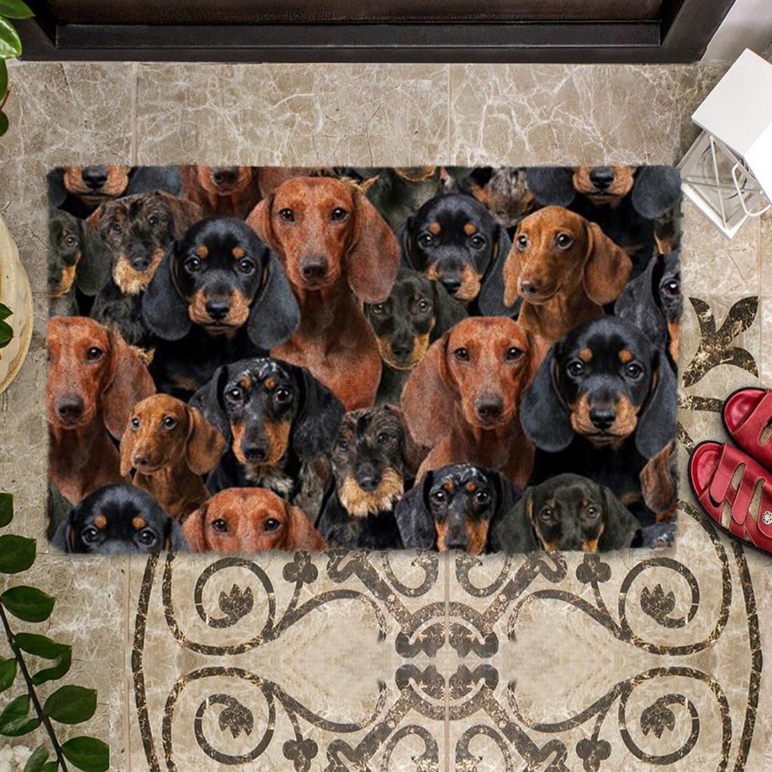 A Bunch Of Dachshunds Doormat