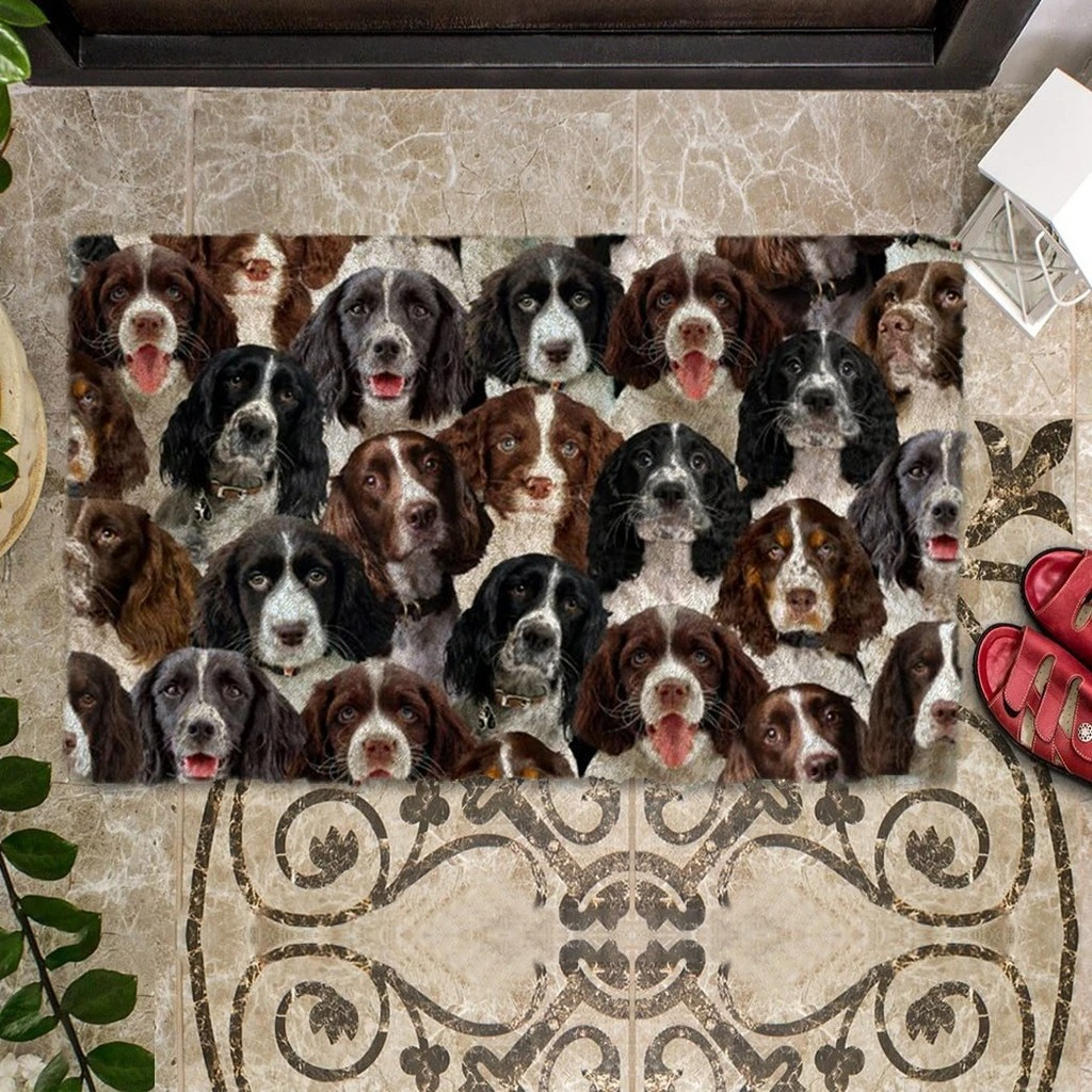A Bunch Of English Springer Spaniels Doormat 1