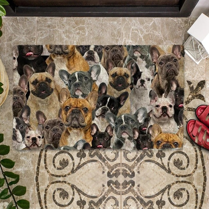 A Bunch Of French Bulldogs Doormat 1