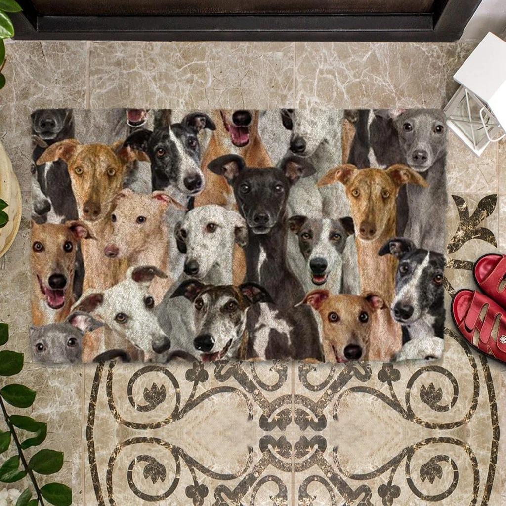 A Bunch Of Greyhounds Doormat 1