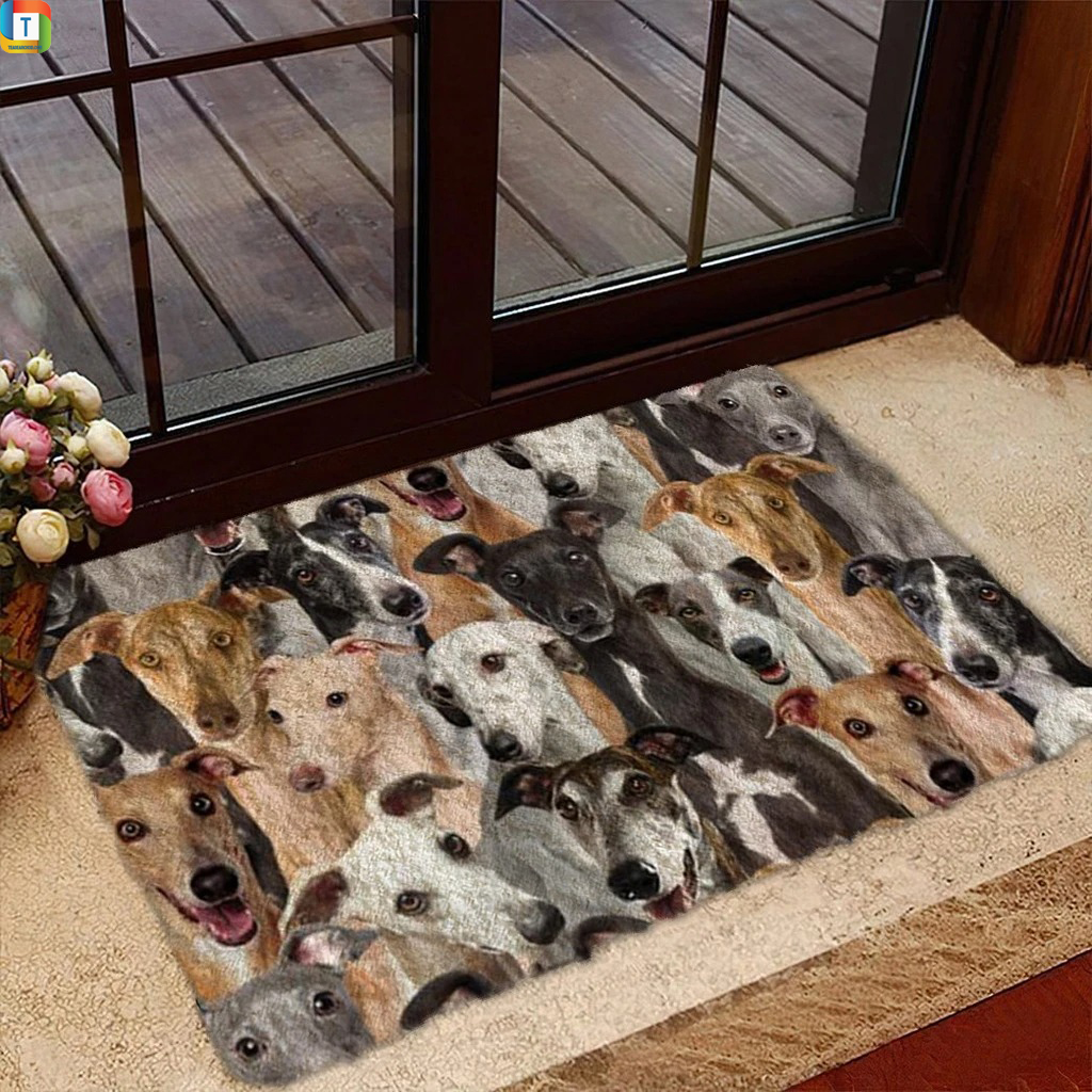 A Bunch Of Greyhounds DoormatA Bunch Of Greyhounds Doormat