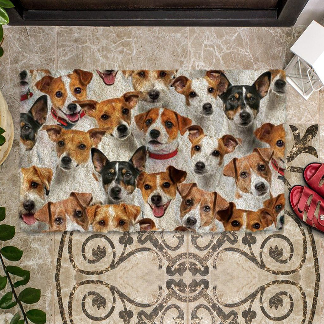 A Bunch Of Jack Russell Terriers Doormat