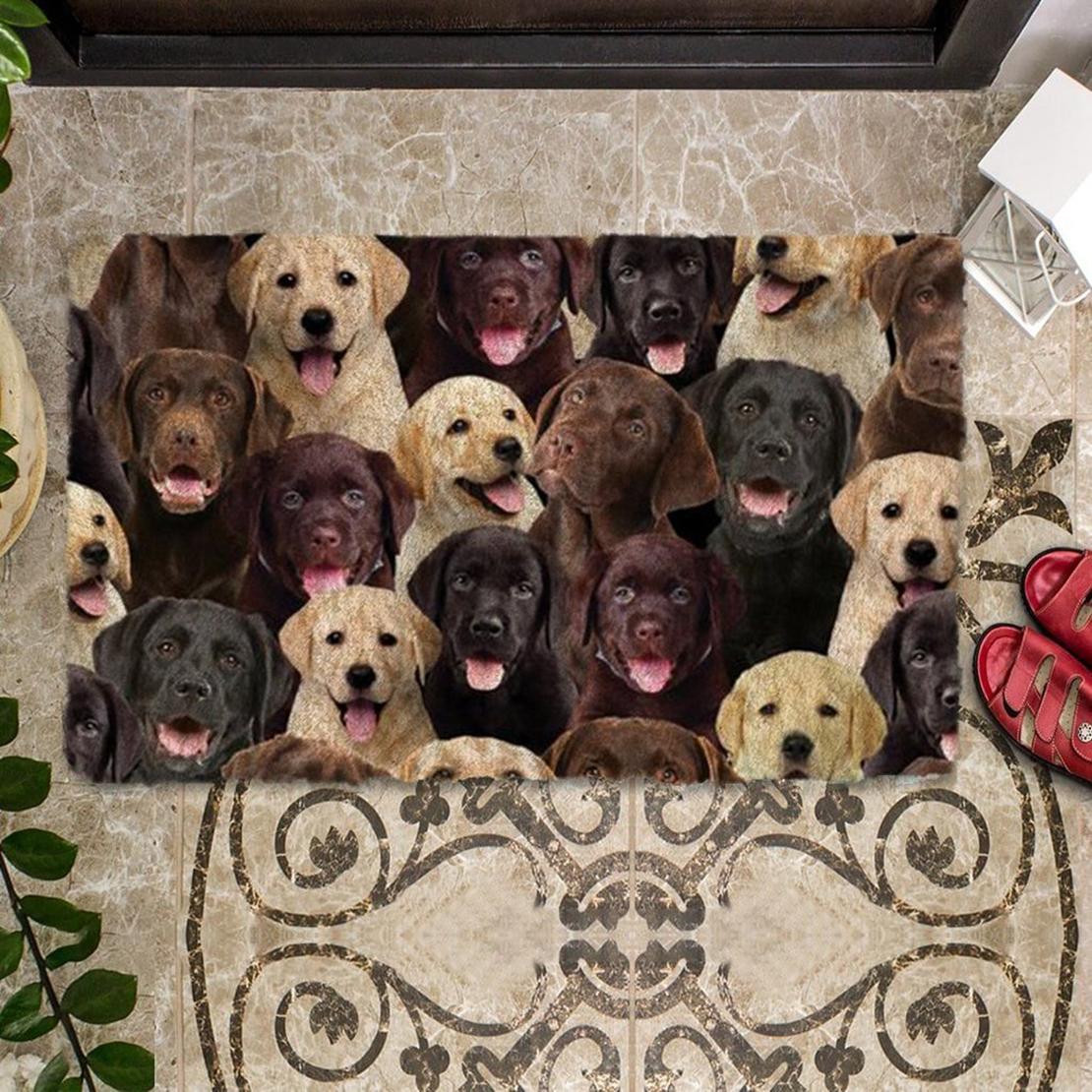 A Bunch Of Labradors Doormat
