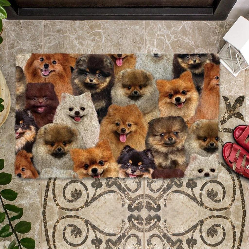 A Bunch Of Pomeranians Doormat 1