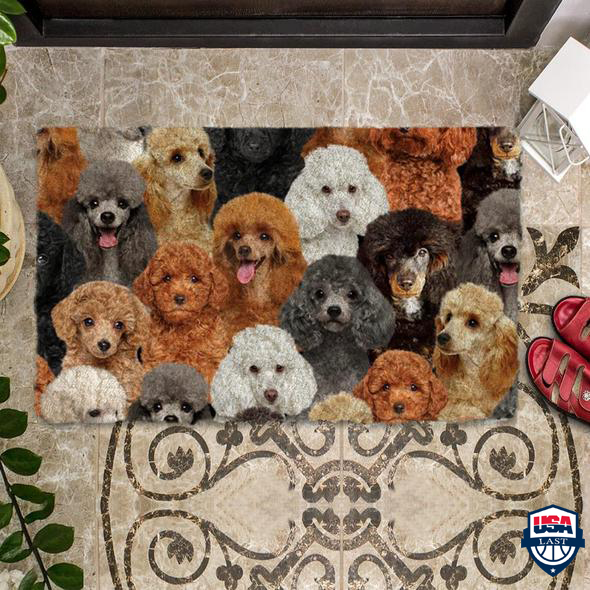 A Bunch Of Poodles Doormat