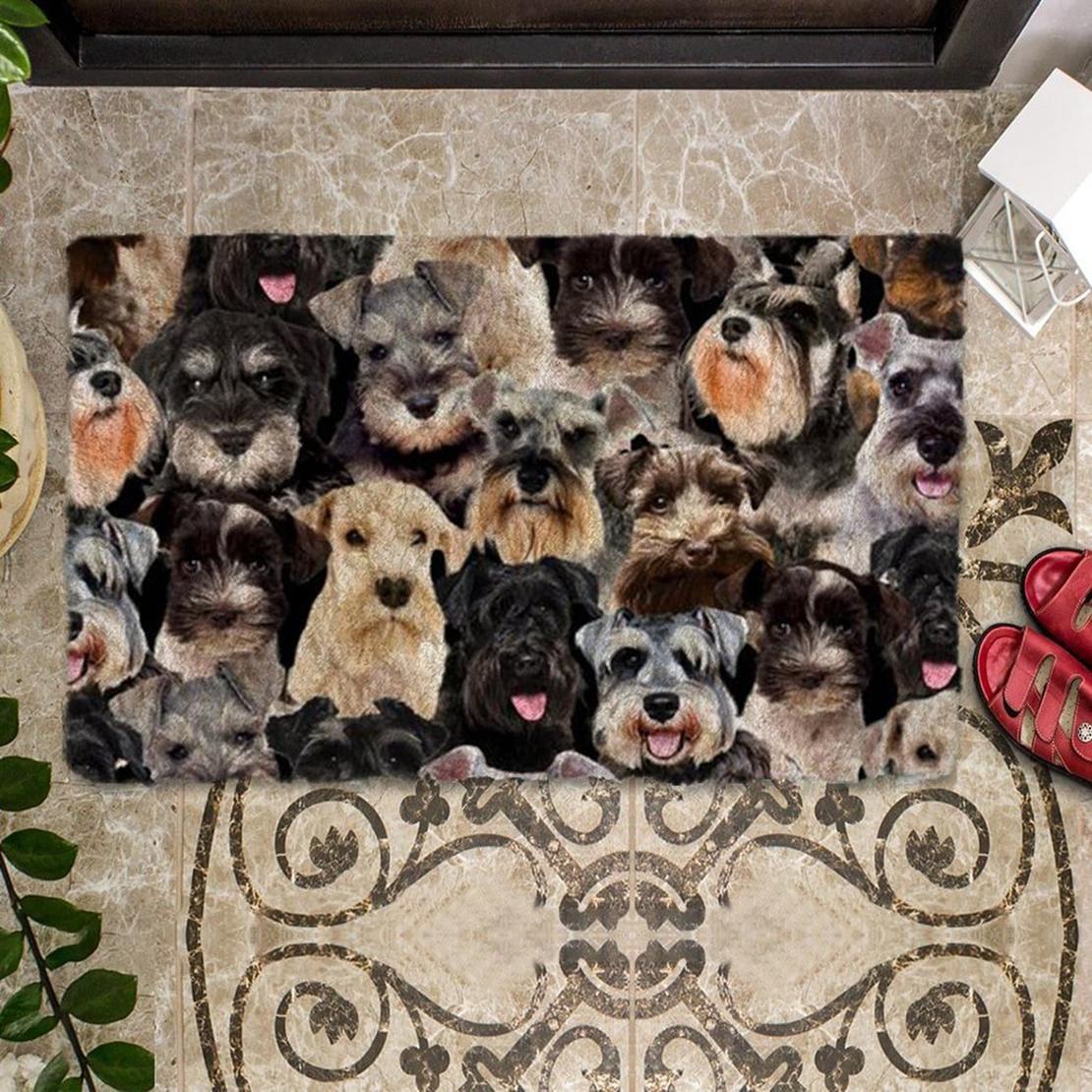 A Bunch Of Schnauzers Doormat