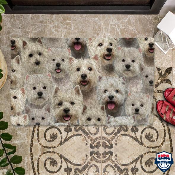 A Bunch Of Westie Doormat