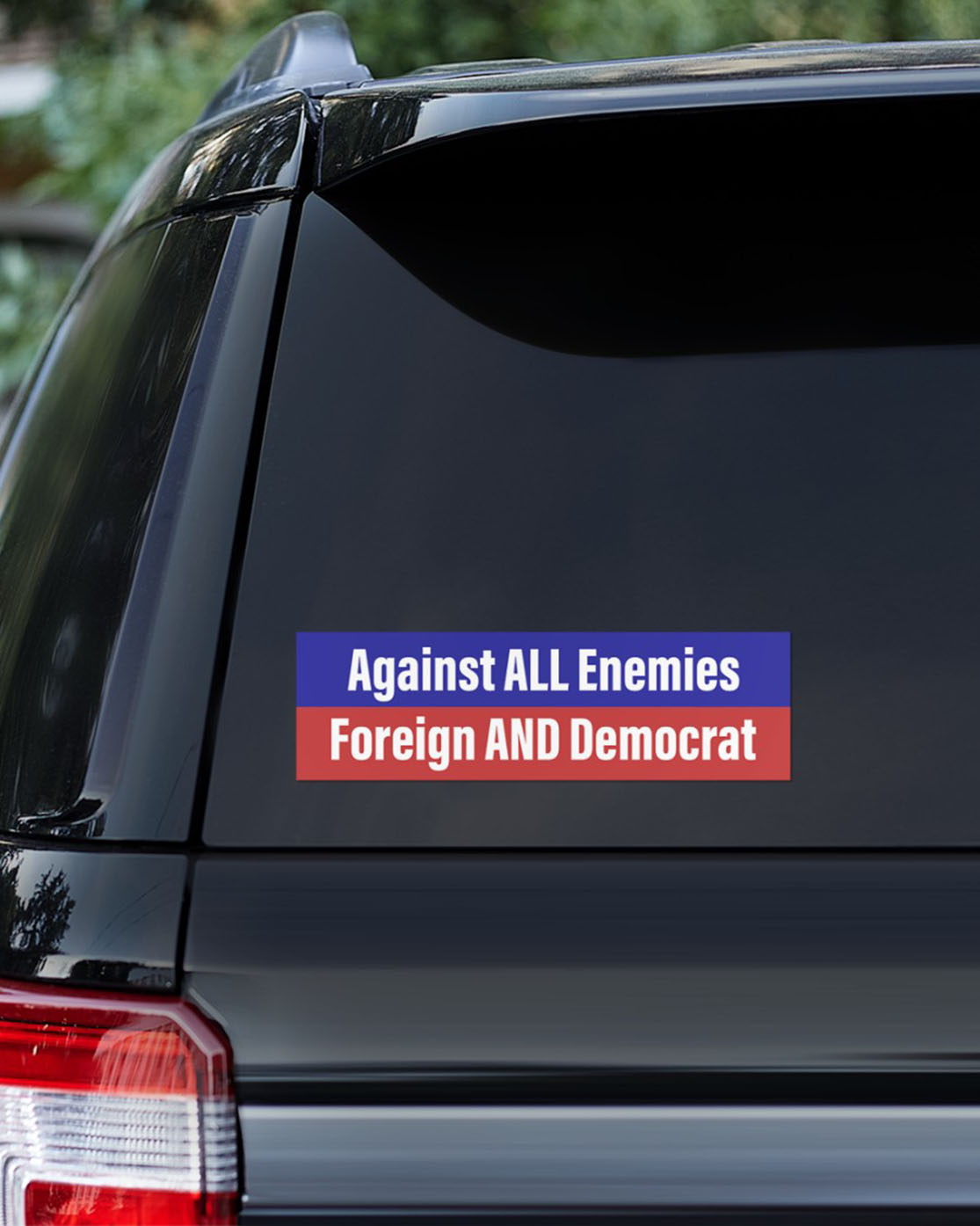 Against all Enemies Foreign and Democrat bumper sticker