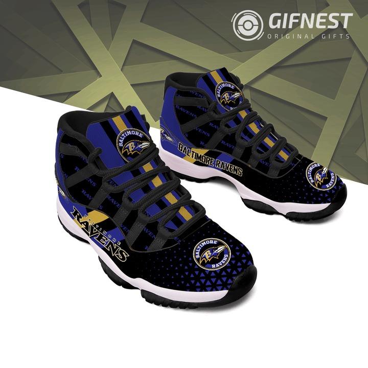 Baltimore ravens Air jordan 11 Shoes 2