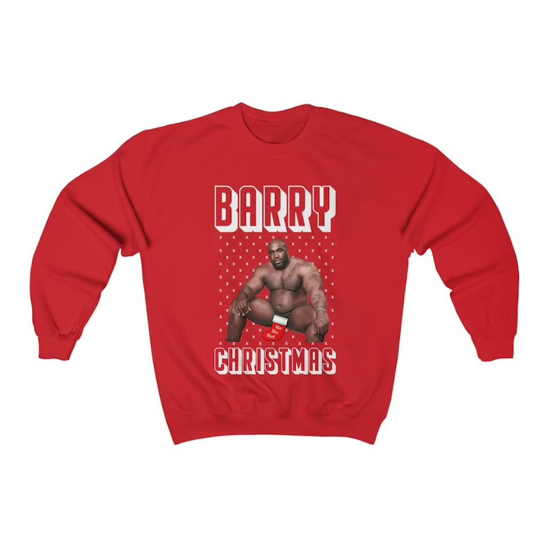 Barry Wood Funny Ugly Christmas Sweatshirt