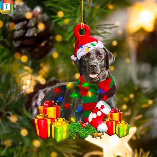 Black Labrador Christmas Ornament