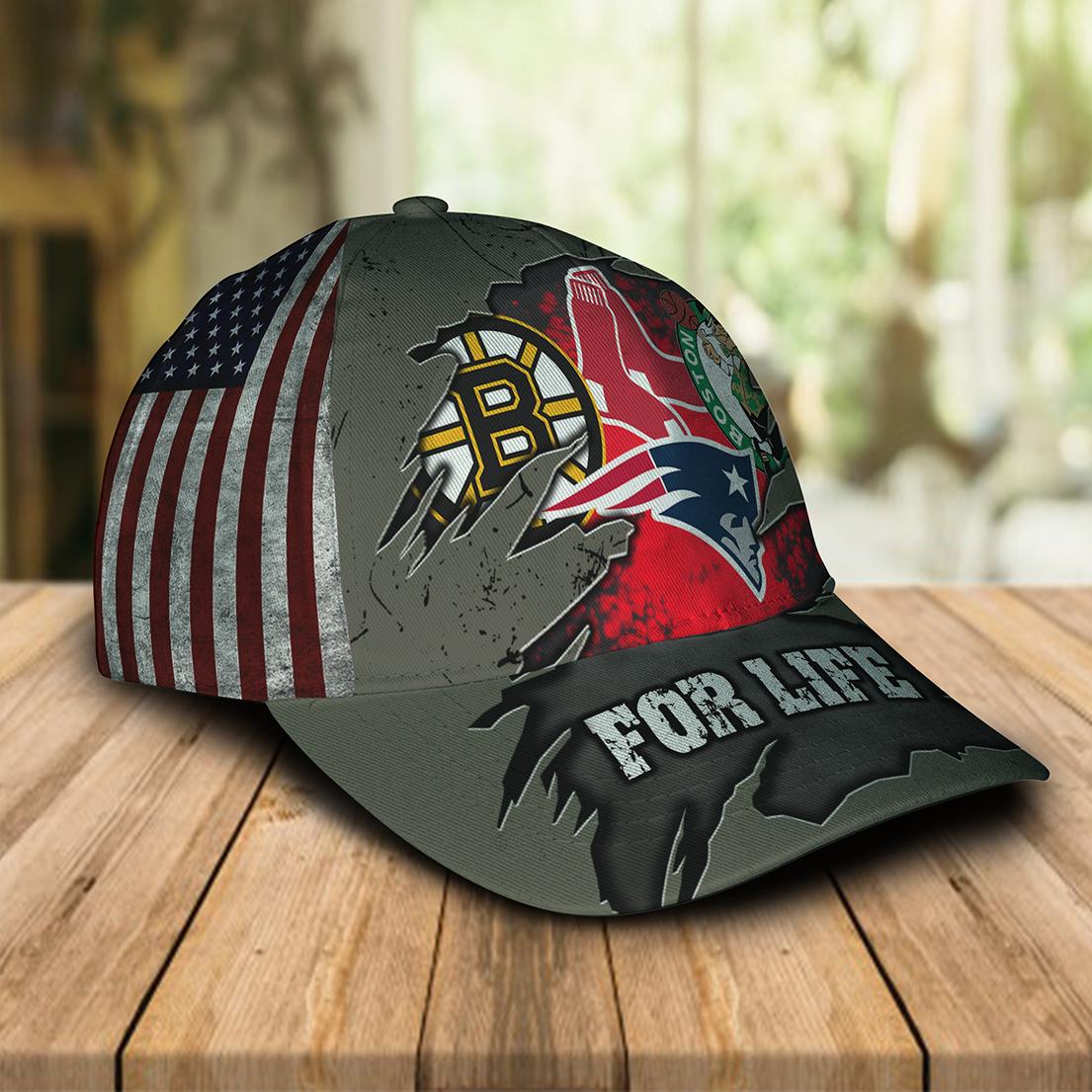 Boston Celtics New England Patriots Boston Bruins Boston Red Sox For Life Cap Hat