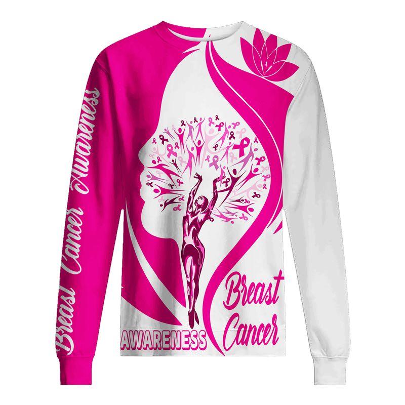 Breast Cancer Awareness Ballet Girl 3D Shirt