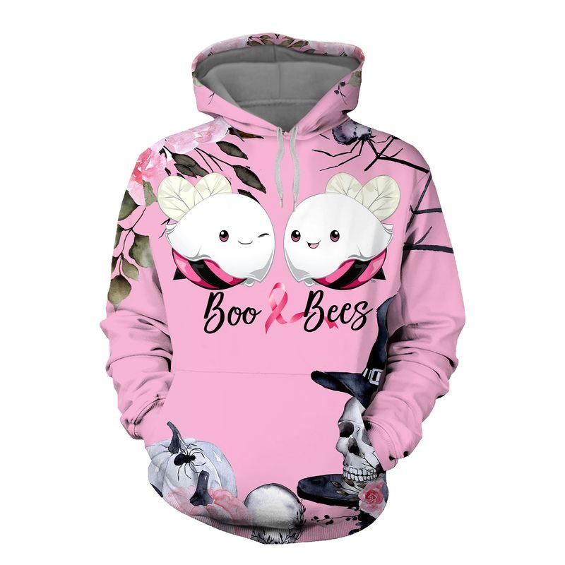 Breast Cancer Awareness Boo Bees 3D Shirt