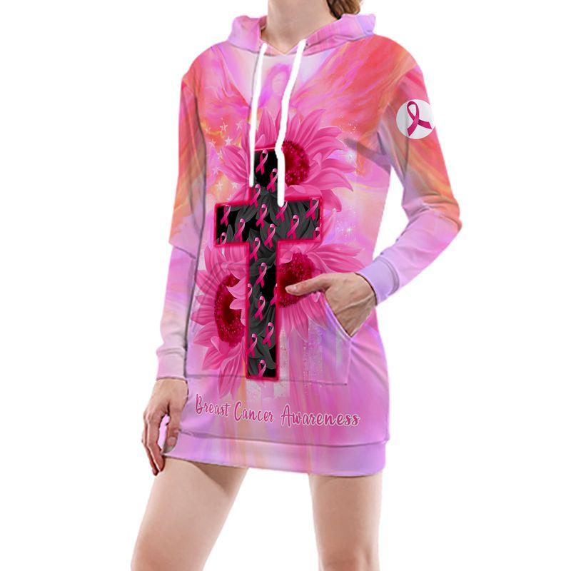 Breast Cancer Awareness God Bless 3D Shirt