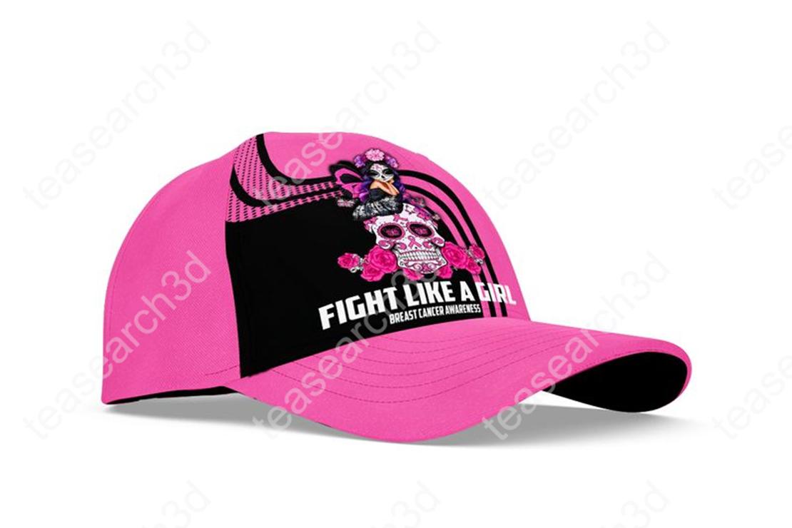 Breast cancer awareness Fight like a girl sugar skull fairy cap