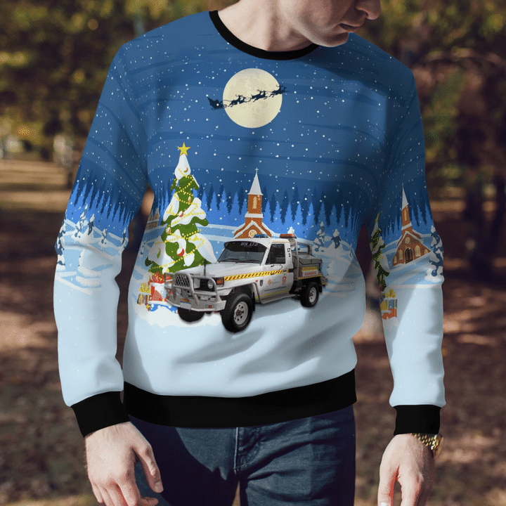 Bush Fire Service Light Tanker Ugly Sweater