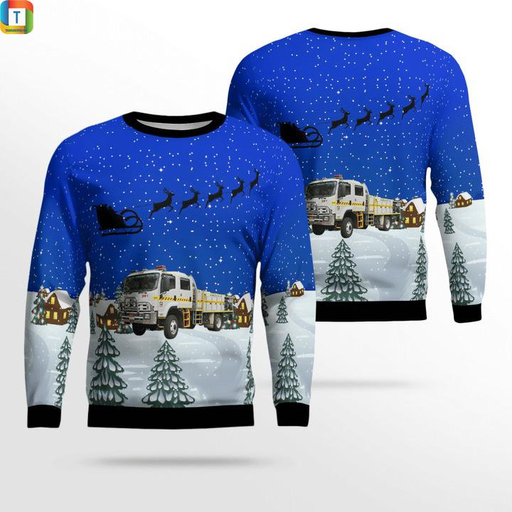 Bush fire service bfs isuzu 4.4 rural tanker ugly sweater
