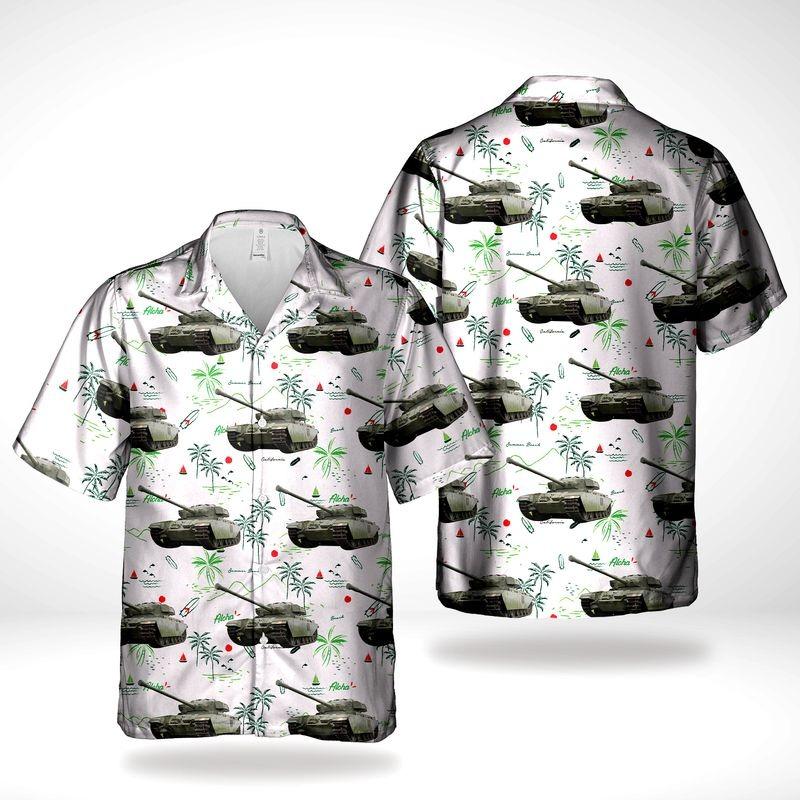Canadian Army Centurion Tank Hawaiian Shirt
