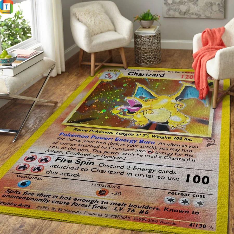 Charizard pokemon rug