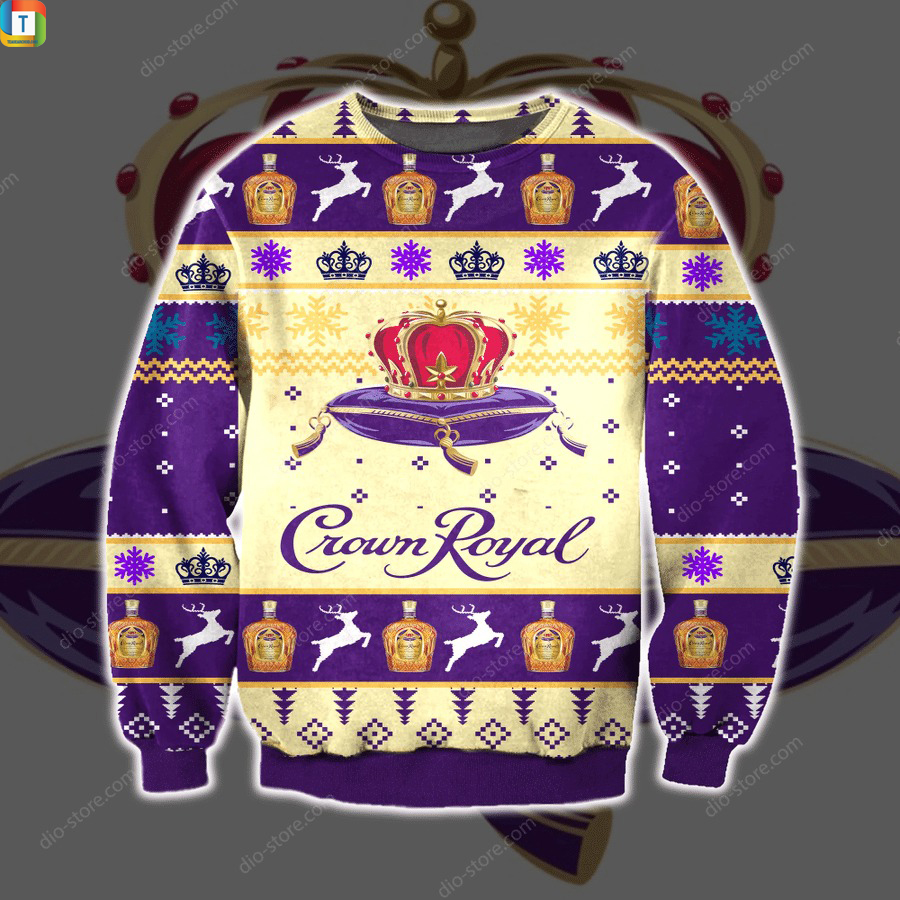 Crown royal whiskey ugly sweater