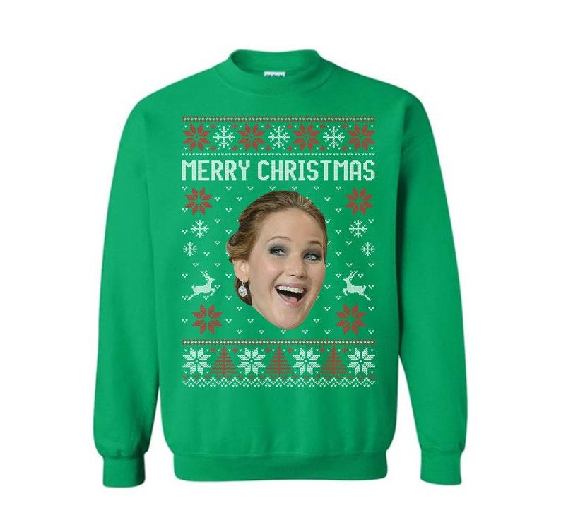 Custom face Funny Ugly Christmas Sweatshirt, Hoodie And Shirt