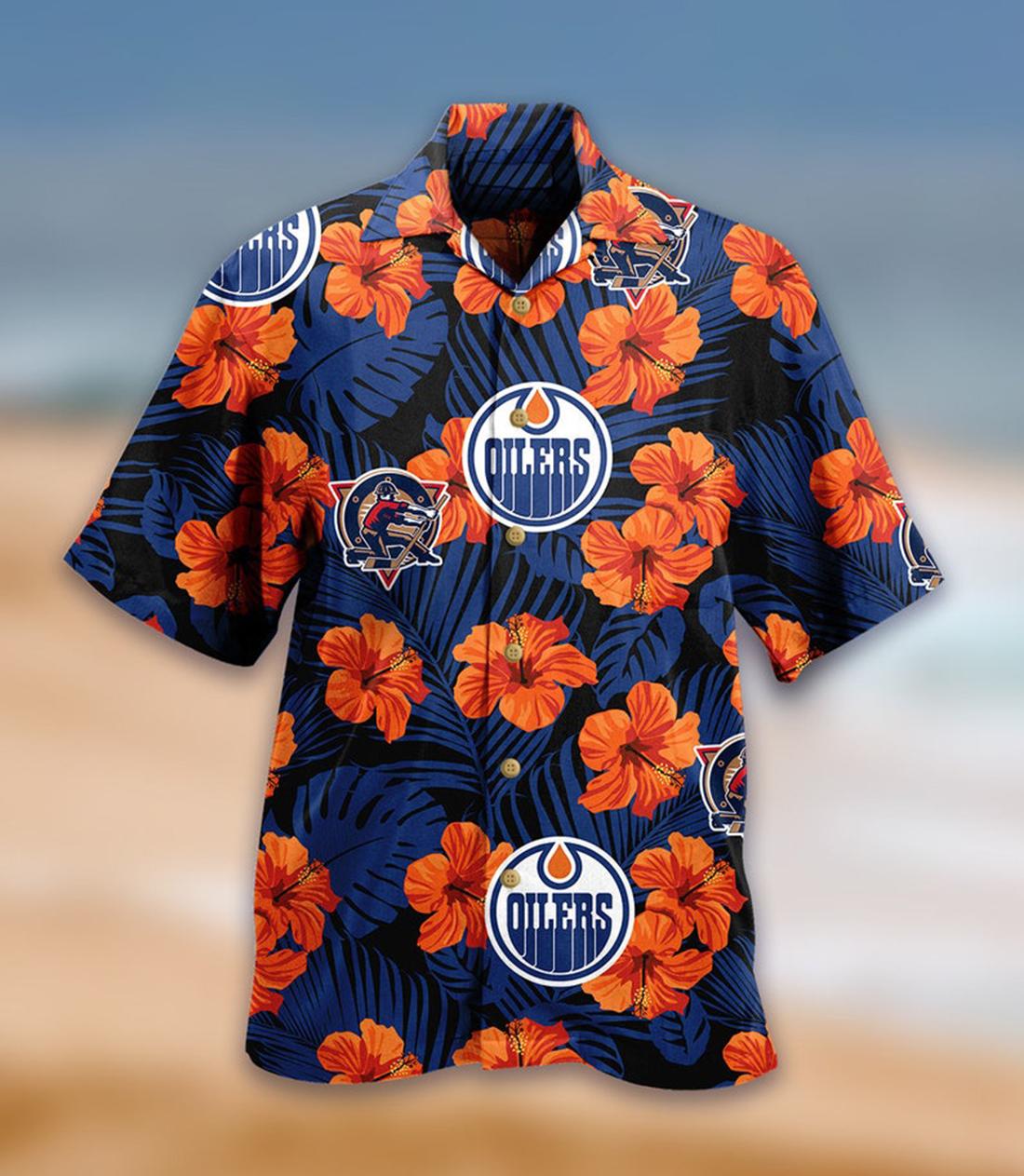 Edmonton Oilers Team NHL Hawaiian Shirt