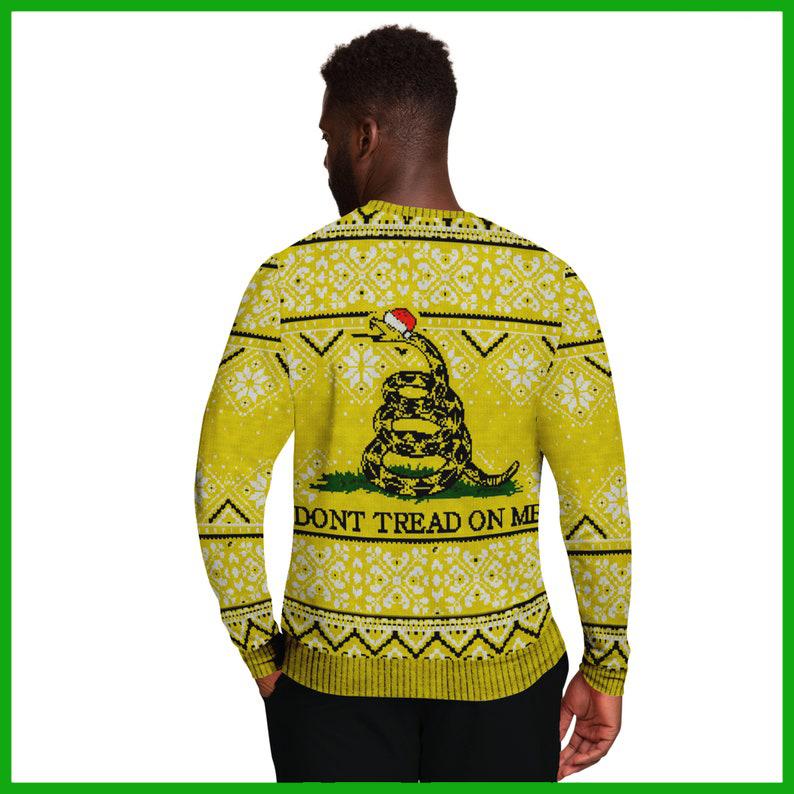 Gadsden Sneak Don't Tread On Me 3d Ugly Christmas Sweater