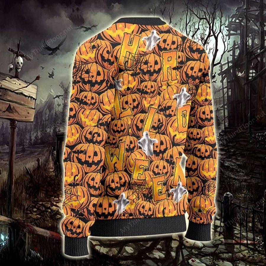 German Shorthaired Pointer Halloween Pumpkin Ugly Sweater 2