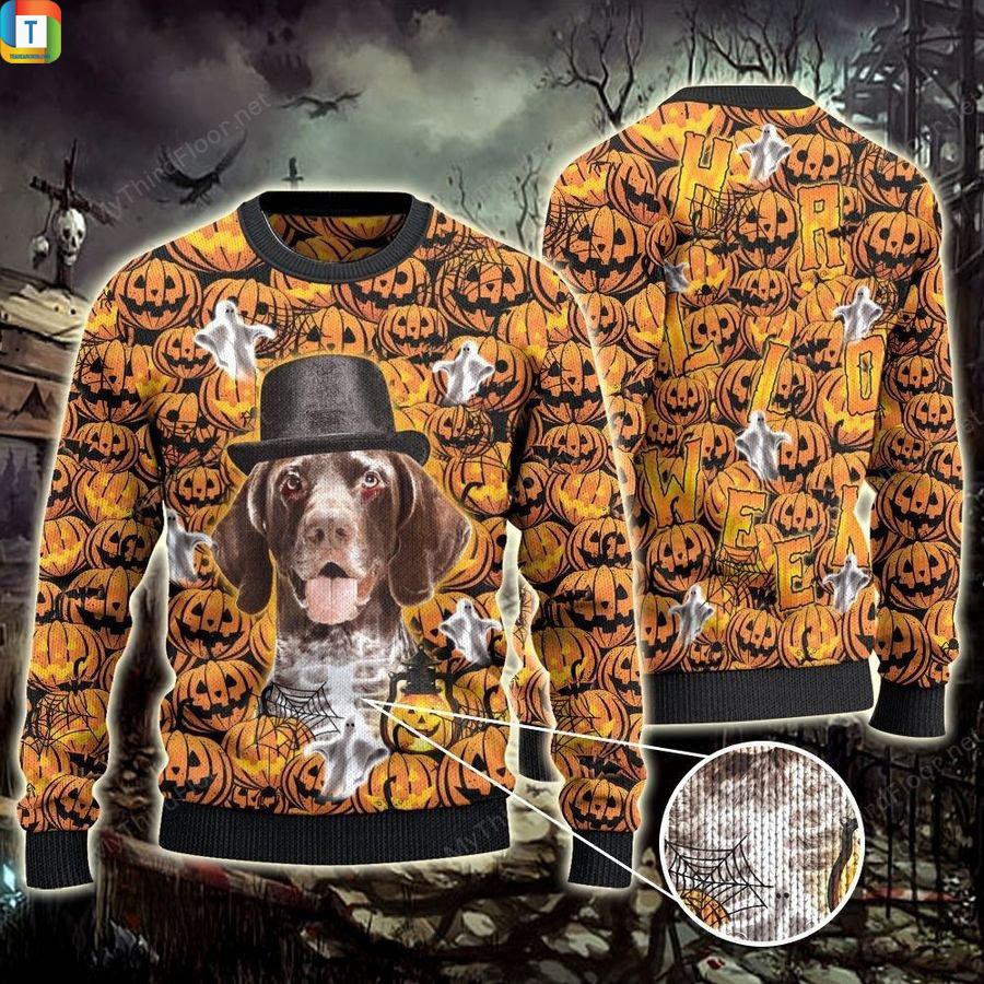German Shorthaired Pointer Halloween Pumpkin Ugly Sweater