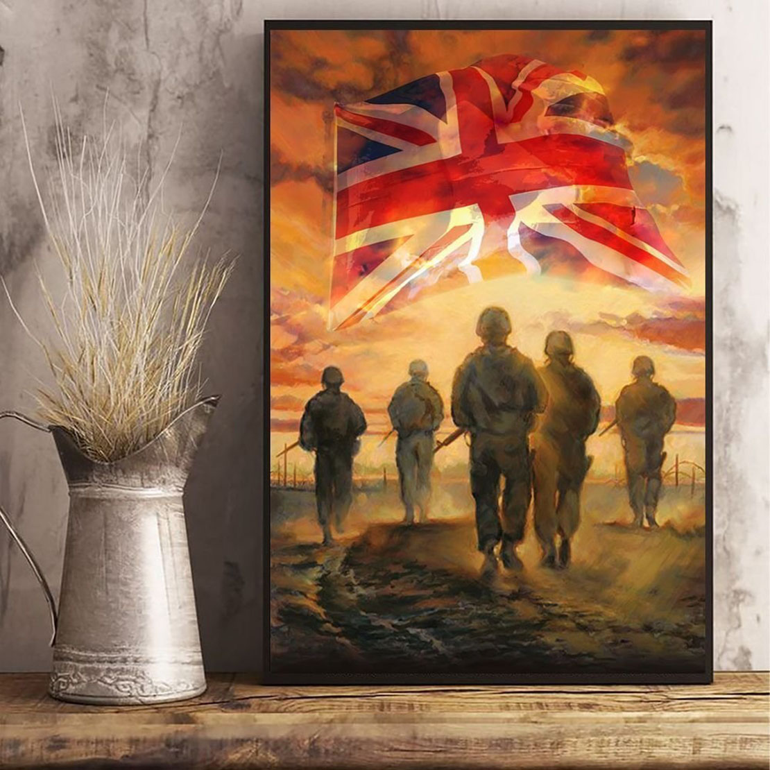 God Bless Uk's Heroes Soldiers Poster