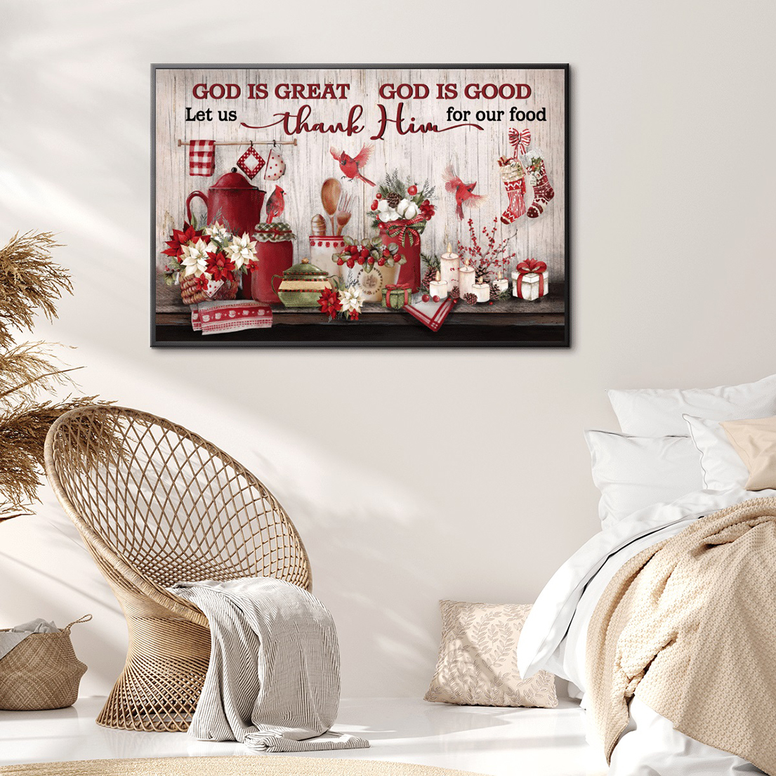 God is great god is good canvas and poster
