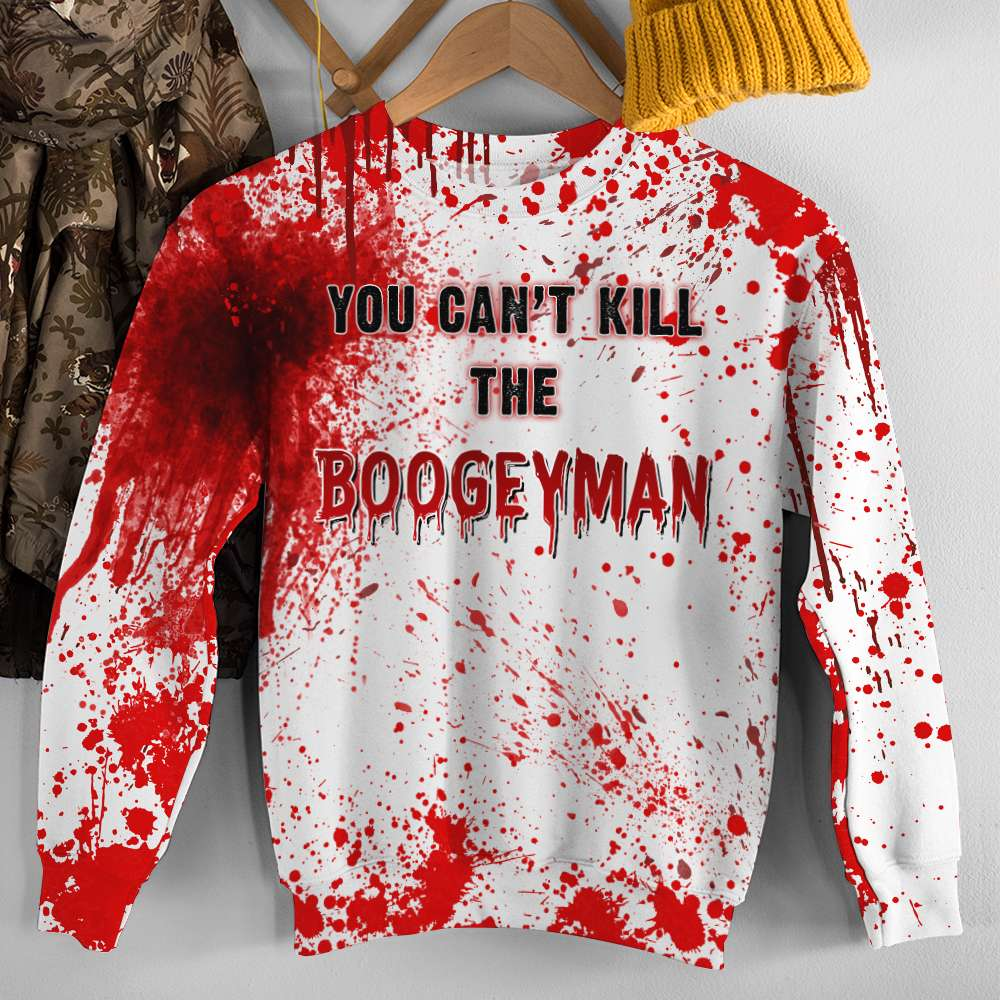 Halloween you can't kill the boogey man 3D Pull Over Hoodie 1
