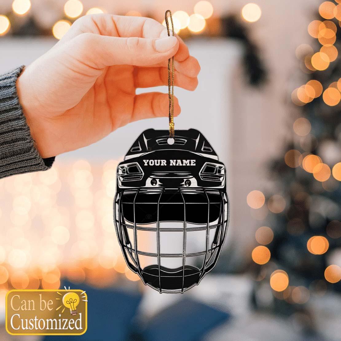 Hockey Helmet Ornament Custom Name