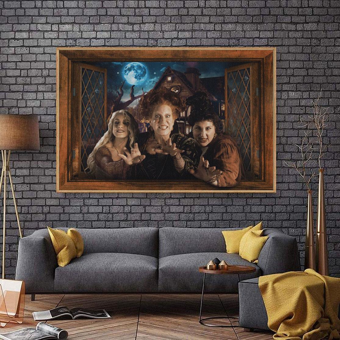 Hocus Pocus Halloweendow wall art poster