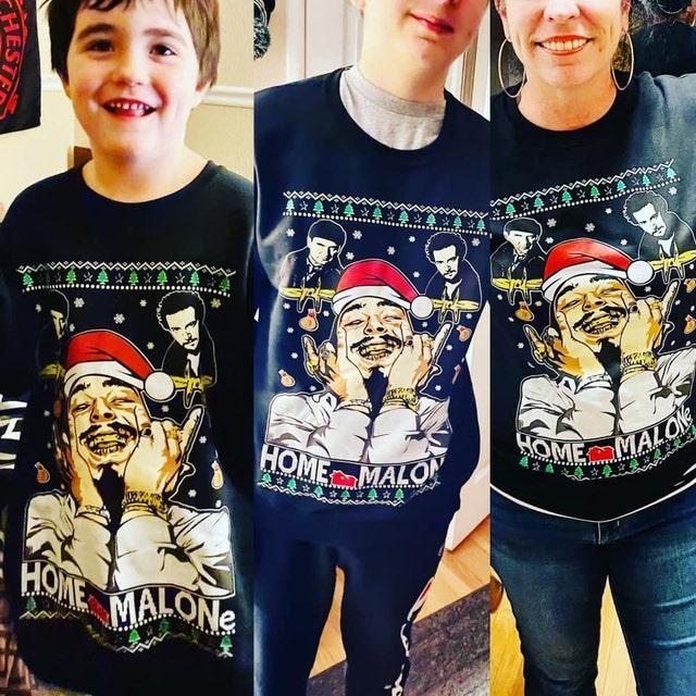 Home Malone Christmas Sweatshirt Ugly Sweater