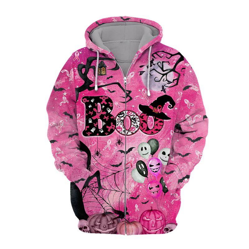 In Octorber We Wear Pink Halloween 3D Shirt