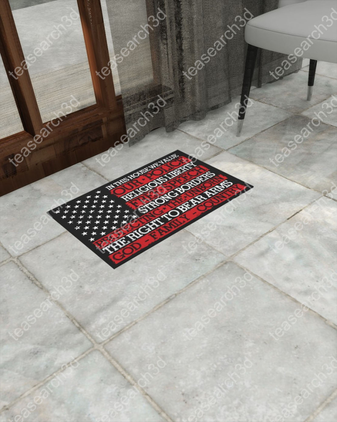 In this house we value our police religious liberty free speech strong borders doormat