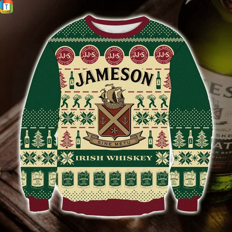 Jameson Irish Whiskey ugly sweater