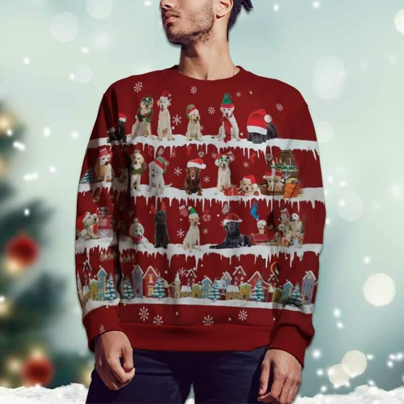 Labrador Retriever Snow Christmas 3D Ugly Sweater