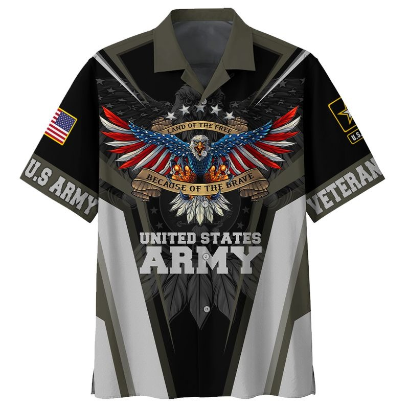 Land of the free because of the brave US army 3d all over printed hawaiian