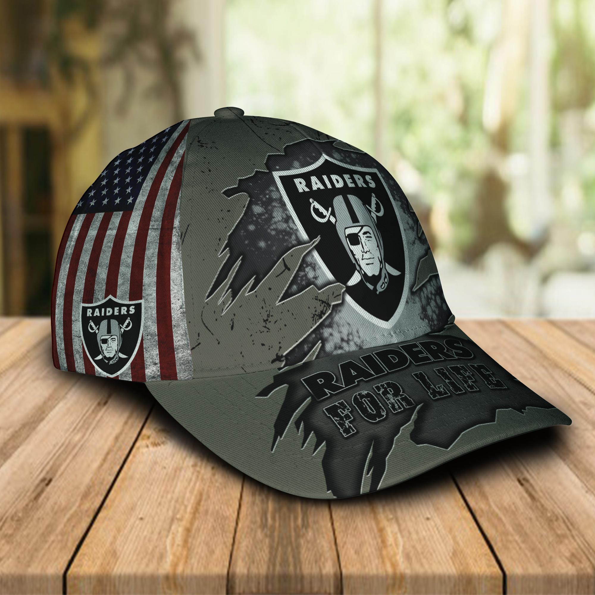 Las Vegas Raiders For Life Caps