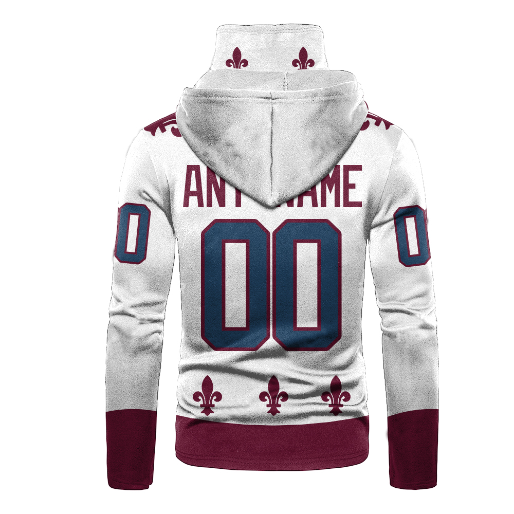 NHL Colorado Avalanche Personalized 3D Hoodie Mask